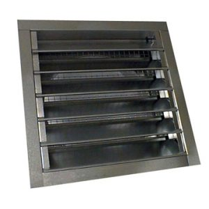 12 x 12 inch louver to 10 inch round galvanized metal